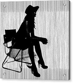 Magdalen In Black Acrylic Print by Naxart Studio