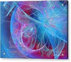 Magenta Blue Acrylic Print