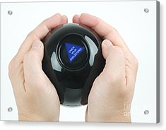 Magic Eight Ball, Check Your Cholesterol Acrylic Print by Photo Researchers, Inc.