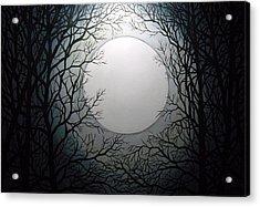 Magic Moon Acrylic Print by Anne Thomassen