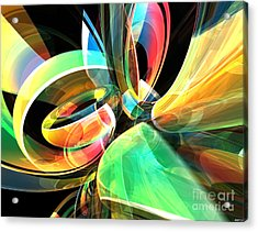 Acrylic Print featuring the digital art Magic Rings by Phil Perkins