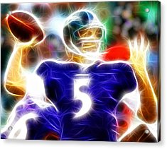 Magical Joe Flacco Acrylic Print by Paul Van Scott