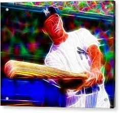 Magical Mickey Mantle Acrylic Print by Paul Van Scott