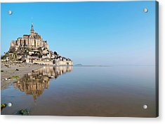 Magical Mont Saint-michel Acrylic Print by Paul Biris