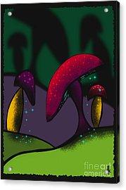 Magical Mushrooms Acrylic Print