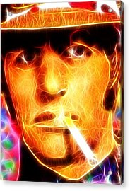 Magical Ringo Starr Acrylic Print by Paul Van Scott