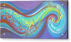 Magical Wave Water Acrylic Print by Reina Cottier