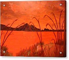 Magnetic Island Sunset Acrylic Print by Judi Goodwin
