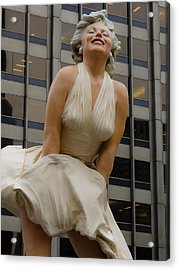 Magnificent Marilyn Acrylic Print by Julia Wilcox