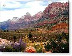 Magnificent Vista Of Zion Acrylic Print