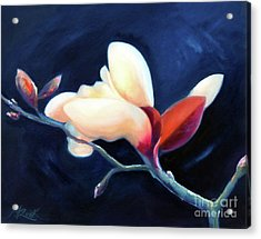 Acrylic Print featuring the painting Magnolia Blossom by Michael Rock