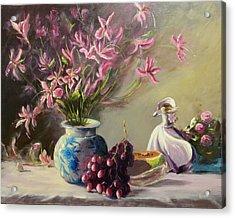 Magnolias Acrylic Print by Thomas Kearon
