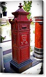 Mailbox Acrylic Print by Thanh Tran