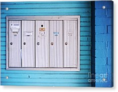 Mailboxes Acrylic Print by HD Connelly
