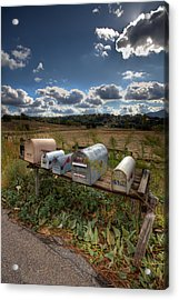 Mailboxes  Acrylic Print by Peter Tellone