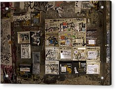 Mailboxes With Graffiti Acrylic Print by RicardMN Photography