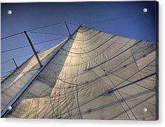 Main Sail Acrylic Print by Barry R Jones Jr