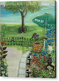 Acrylic Print featuring the painting Main Street by Bernadette Krupa