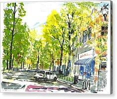 Main Street Greenville Spring Acrylic Print