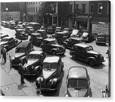 Main Street Parking Acrylic Print by Archive Photos