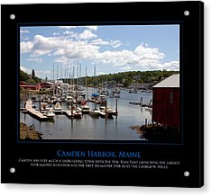 Maine Harbour Acrylic Print by Jim McDonald Photography