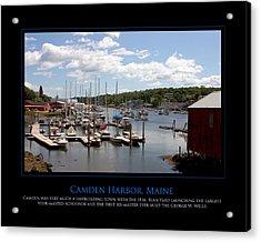 Maine Harbour Acrylic Print by Jim McDonald Photography