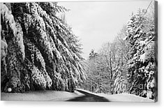 Maine Winter Backroad Acrylic Print by Christy Bruna