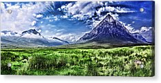 Majestic Highlands Acrylic Print by Wendy White