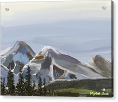 Acrylic Print featuring the painting Majestic Mountains by Elizabeth Coats