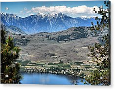 Majestic Mountains Overlook Osoyoos Acrylic Print by Don Mann