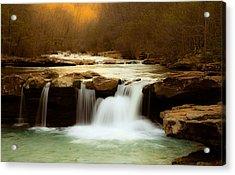 Majestic Waterfalls Acrylic Print by Iris Greenwell