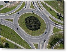 Major Roads And Dual Carriageways. A Acrylic Print by Jaak Nilson