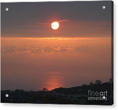 Makakilo Sunset Acrylic Print by Anthony Trillo
