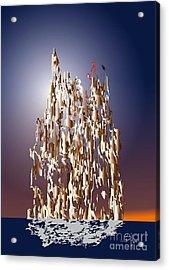 Acrylic Print featuring the digital art Makebelieve World 2 by Leo Symon