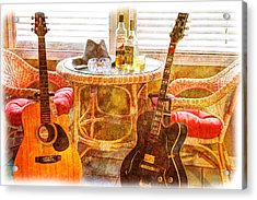 Making Music 003 Acrylic Print by Barry Jones