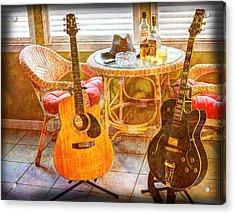 Making Music 004 Acrylic Print by Barry Jones