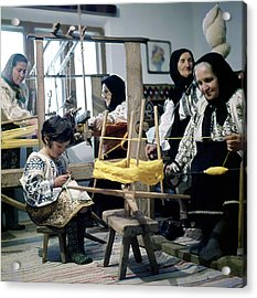 Making Wool Clothing In Vrancea Romania Acrylic Print