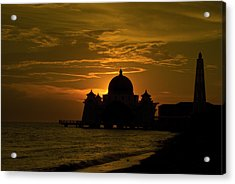 Malacca Straits Mosque Acrylic Print by Ng Hock How