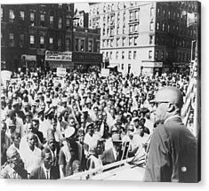 Malcolm X, Speaking To An Outdoor Rally Acrylic Print by Everett