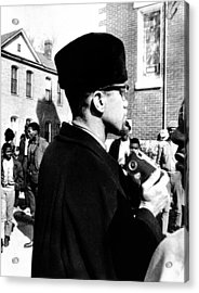 Malcolm X Visits The Voting Rights Acrylic Print