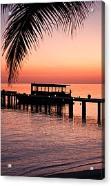 Acrylic Print featuring the photograph Maldives Sunrise by Shirley Mitchell
