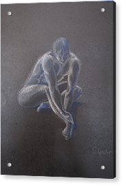 Male Figure In Contemplation Acrylic Print