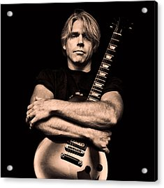 Male Guitarist Acrylic Print by Trudy Wilkerson