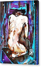 Male Nude Acrylic Print by Ion vincent DAnu
