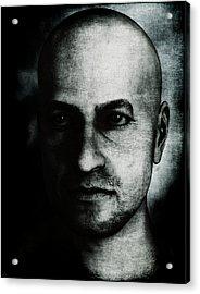 Male Portrait - Black And White Acrylic Print