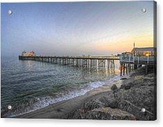 Malibu Pier Restaurant Acrylic Print