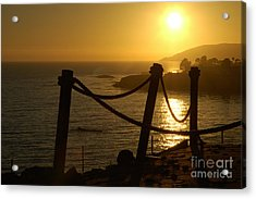 Malibu Sunset Acrylic Print by Micah May