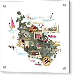 Malta Acrylic Print by Luciano Lozano