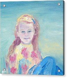 Malve Portrait Acrylic Print by Barbara Anna Knauf