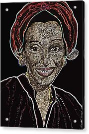 Mama Nura Acrylic Print by Duwayne Washington